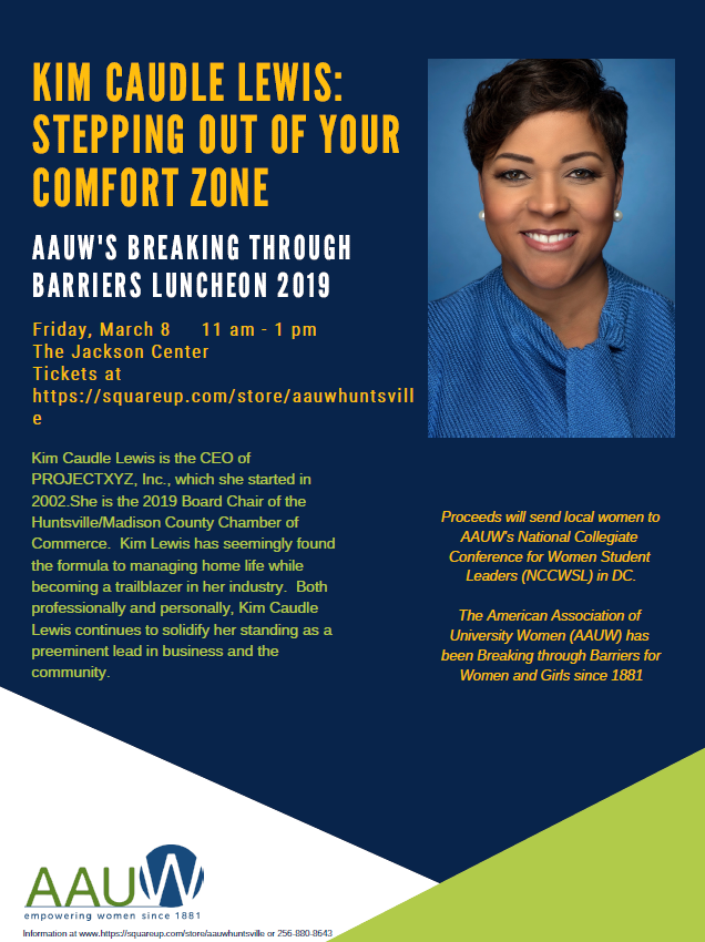 Kim Caudle Lewis: Stepping out of your Comfort Zone flyer